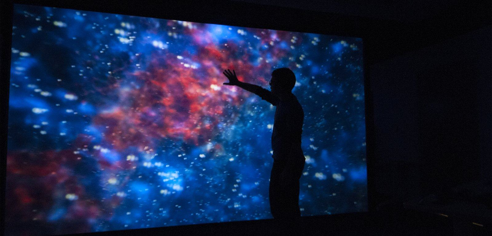 Cosmic image on large screen